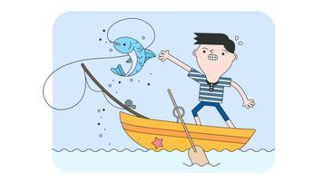 Vetor de pesca