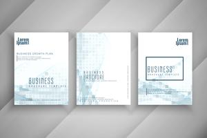 Conjunto de design de brochura de negócios abstratos vetor