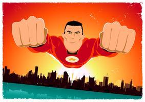 É um passaro ! - super-herói voador vetor