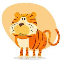 Tigre dos desenhos animados vetor