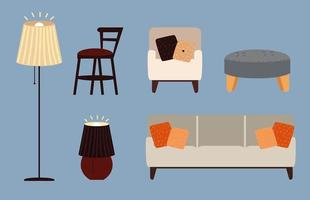 definir móveis domésticos vetor