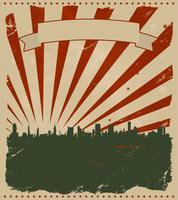 Cartaz americano de grunge