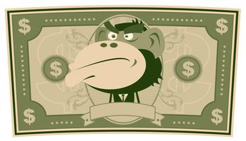 Dinheiro engraçado - dólar dos desenhos animados vetor