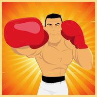 Counterpunch e Knockout do braço direito! vetor