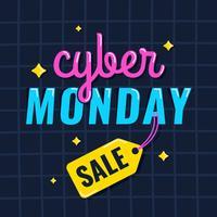 Posto de mídia social da Cyber Monday vetor