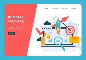 Modelo de vetor de Banner de Marketing Empresarial