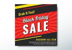 Banner de venda de sexta-feira negra vetor