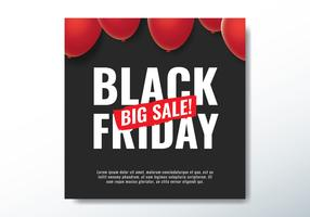Sexta-feira negra grande venda vetor