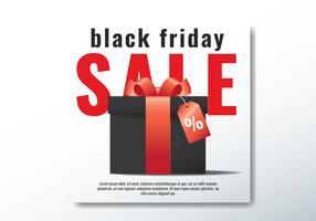 Caixa de presente de sexta-feira negra