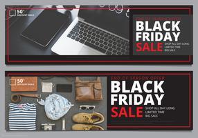 Modelo de Banner de venda de sexta-feira negra Mock Up pronto para uso vetor
