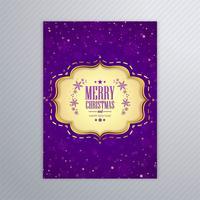 Cartaz de cartão de Natal feliz linda com brochura modelo bac vetor