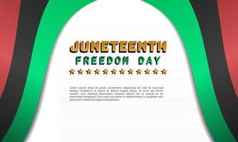 design de plano de fundo do décimo primeiro dia da liberdade vetor