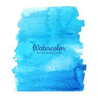 Vetor de design de respingo azul aquarela