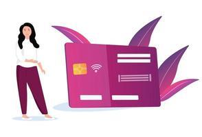 pagamentos com cartão de crédito vetor