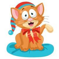 gatinho fofo engraçado posando vetor