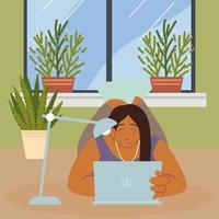 trabalho freelance em casa vetor