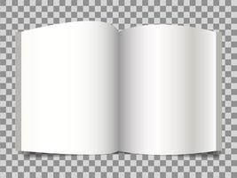 maquete da marca da identidade corporativa, maquete com livro aberto vetor