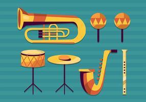 Instrumentos Musicais Knolling