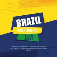bandeira da celebração da independência do brasil vetor
