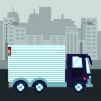 transporte de caminhão urbano vetor