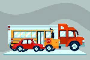 ônibus, caminhão e carro vetor