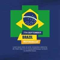 7 de setembro, bandeira da celebração da independência do Brasil, decoração do emblema da bandeira vetor