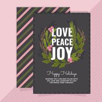 Cartão de saudação de feriado de vetor
