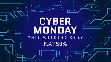 Vetores Funky Cyber segunda-feira Social Media Post