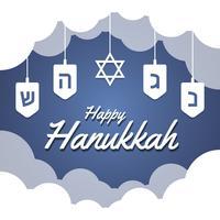Fundo azul de Hanukkah vetor