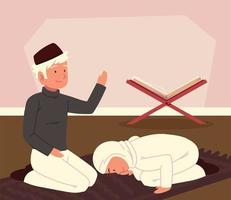 homem e mulher árabes vetor