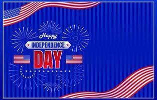 fundo do dia da independência dos eua vetor