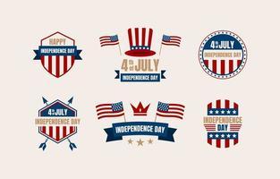 Emblemas de 4 de julho vetor