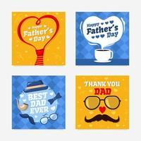 cartões de agradecimento para o pai vetor