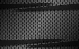 fundo de material preto e cinza com setas escuras e malha hexagonal de metal. modelo moderno para o seu negócio e projetos. fundo widescreen abstrato vetor