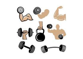 ilustração em vetor modelo de design de ícone de ginásio de treino