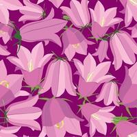 floral sem costura padrão flor bluebell prado textura ornamental flores silvestres verão campo violeta fundo vetor