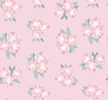 padrão floral sem emenda. abstrato base artística ornamental desenhada com flores e folhas. florescer motivo para tecido, têxtil, design de decoração vetor