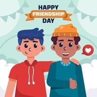 feliz Dia da Amizade vetor