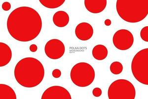padrão sem emenda de pontos vermelhos abstratos em fundo branco, vista em perspectiva. impressão de bolinhas para têxteis, moda, papel de scrapbook, papel de parede. ilustração vetorial vetor
