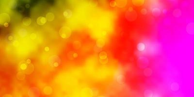 textura leve multicolor de vetor com ilustração de discos com conjunto de padrão de esferas abstratas coloridas brilhantes para anúncios de empresas