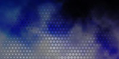 layout de vetor roxo claro com formas de círculo discos coloridos abstratos em padrão de fundo gradiente simples para folhetos de livretos