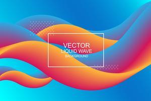 Composição dinâmica. Forma de fluxo de design moderno 3d. Origens de onda líquida. Ilustração vetorial.