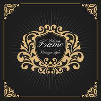Modelo de logotipo de luxo vintage monograma vetor