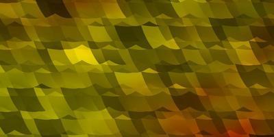 padrão de vetor laranja claro com hexágonos coloridos