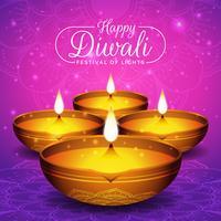 Folheto do festival de Diwali e fundo do cartaz vetor