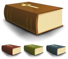 Grande, antigas, bíblia sagrada, livros, jogo vetor