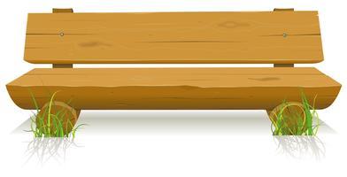 Banco de madeira vetor