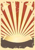 Cartaz americano de grunge vetor
