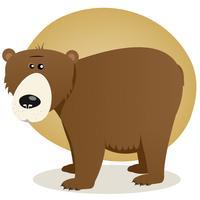 Urso marrom vetor