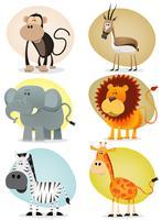 Coleção de animais da selva africana vetor